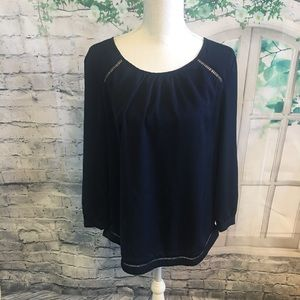 J.Crew Navy blue blouse